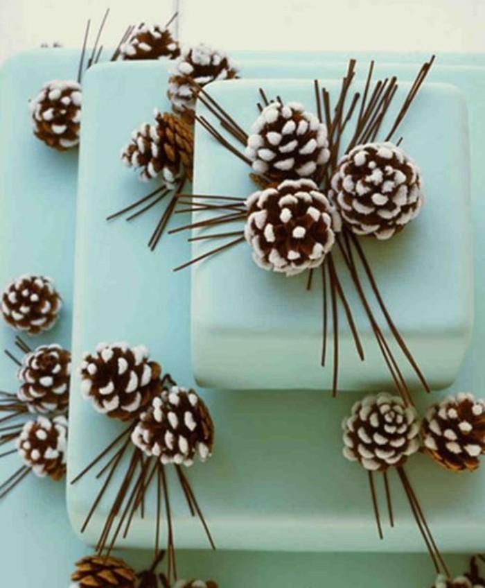 herbstdeko winterdeko basteln mit tannenzapfen kamin weihnachtsdeko tortendeko