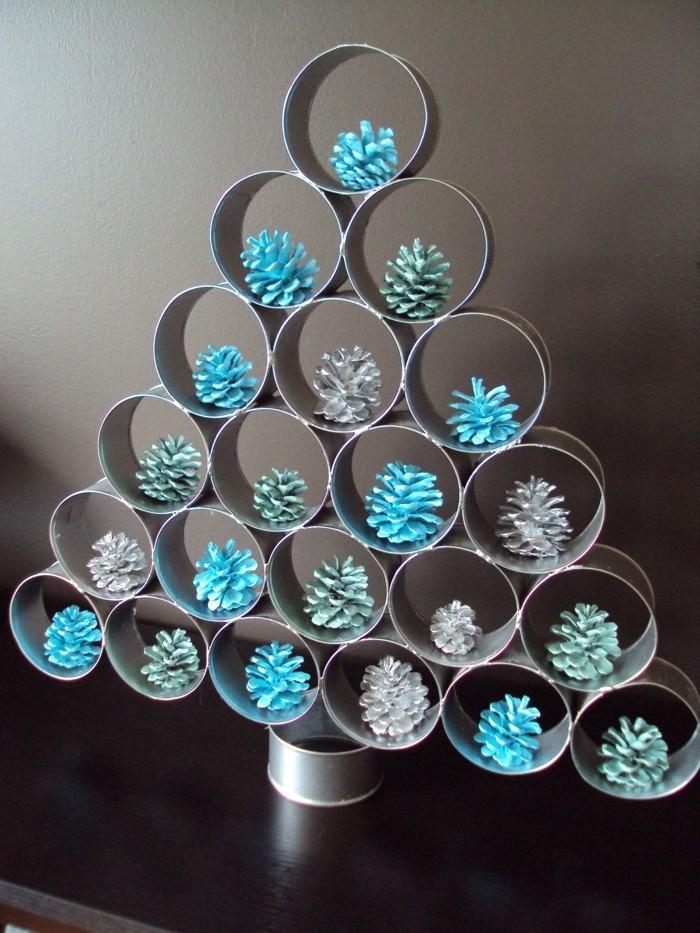 herbstdeko winterdeko basteln tuerkranz weihnachtsbaum