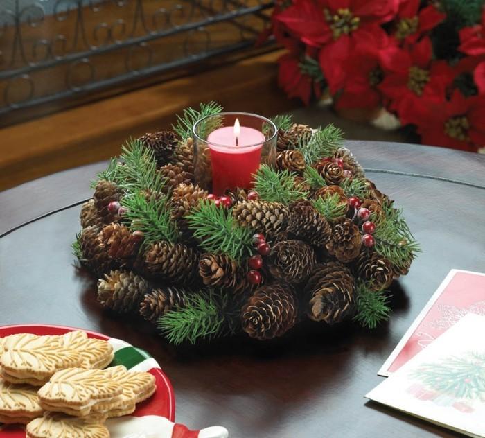 herbstdeko winterdeko basteln tuerkranz weihnachtskranz