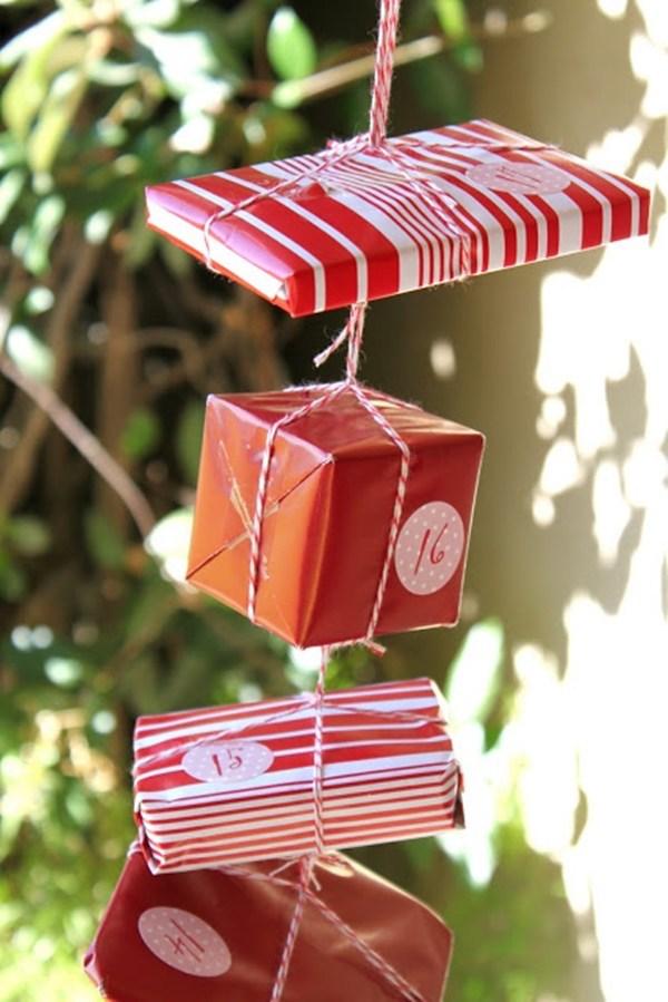 ideen für adventskalender als hängedekko geschenke