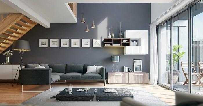 industrielampe ausgefallene hängelampen im modernen wohnzimmer