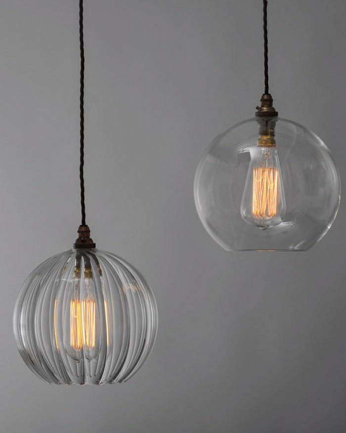 industrielampe modernes design durchsichtiger lampenschirm