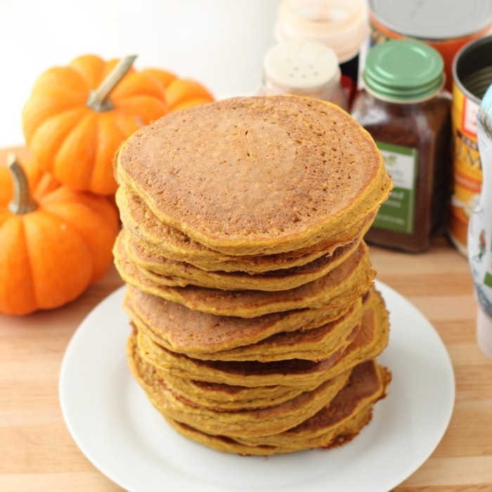 kürbispfannkuchen backen frühstücksideen