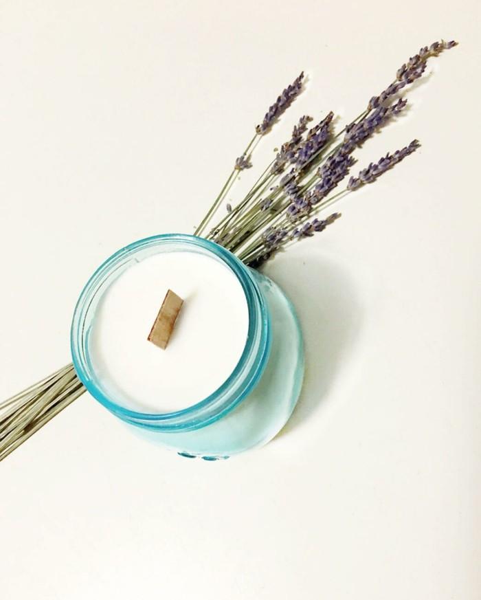 kerzen selber machen diy ideen lavendel