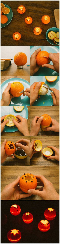 kerzen selber machen diy ideen manderine