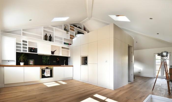 kueche dachschraege modern funktional viel freiraum