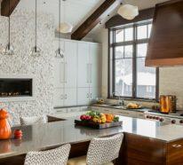 Küche mit Dachschräge – 50 Ideen für ein auffälliges Küchendesign