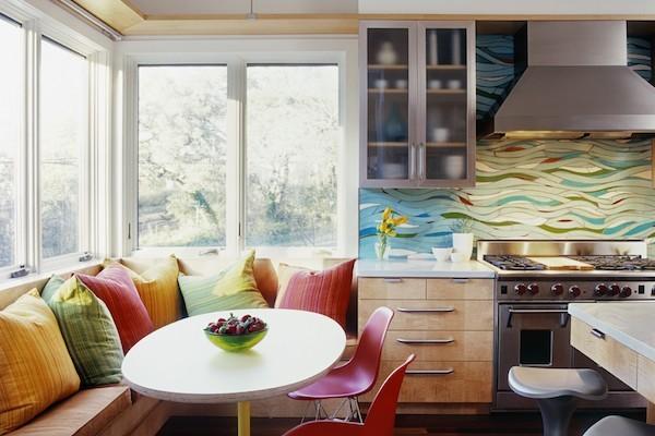 kuechenrueckwand frische ideen urlaubsstimmung wohnideen küche