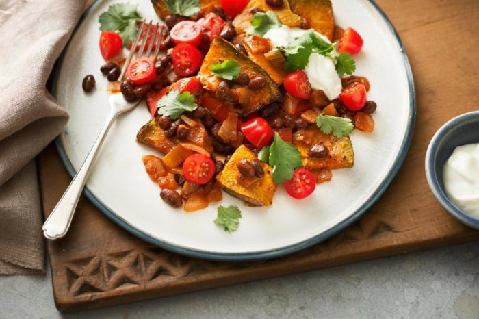 kuerbis chili sin carne veganes rezept