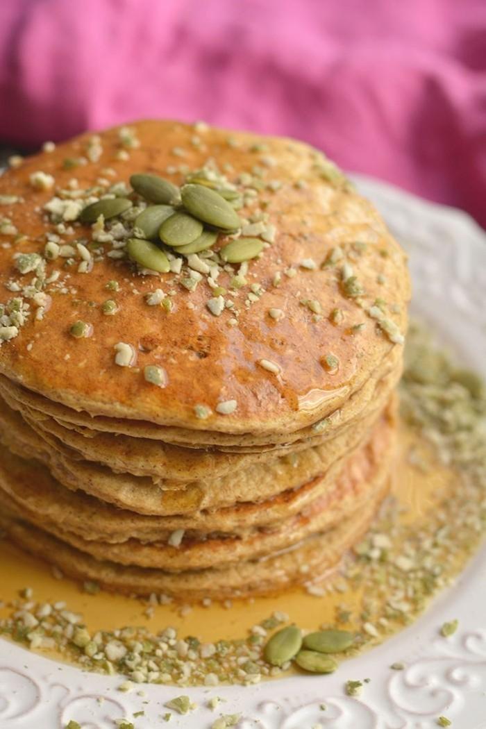 kuerbispfannkuchen selber machen kürbiskerne honig