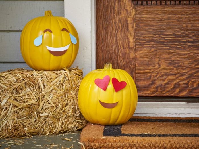 kuerbisse ausgefallene dekoideen zu halloween