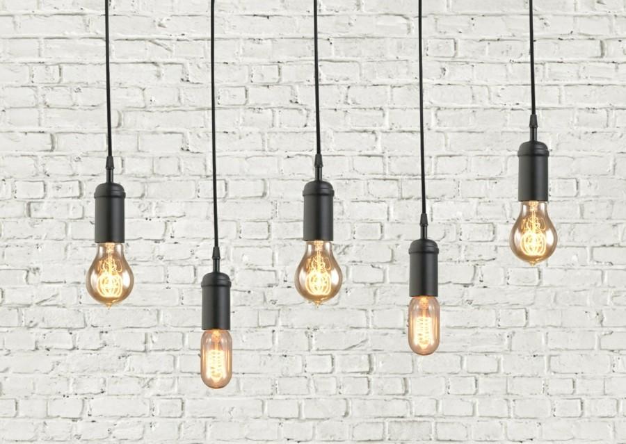 lampen design industrielle hängelampen schlicht schwarz