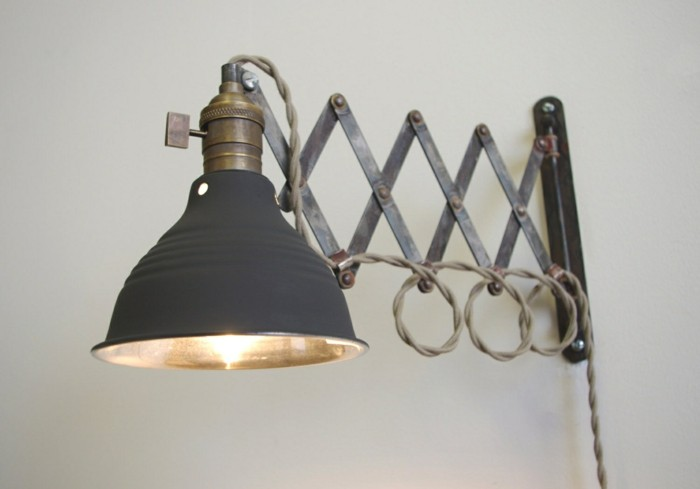 lampen design ideen wandlampe in grau