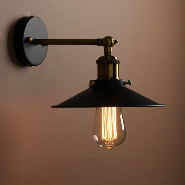lampen design schwarze wandlampe industriell