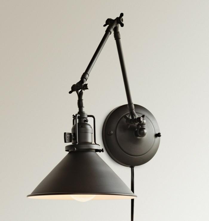 lampen design wandleuchte mit industriellem look
