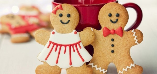lebkuchen männchen weihnachten in der familie