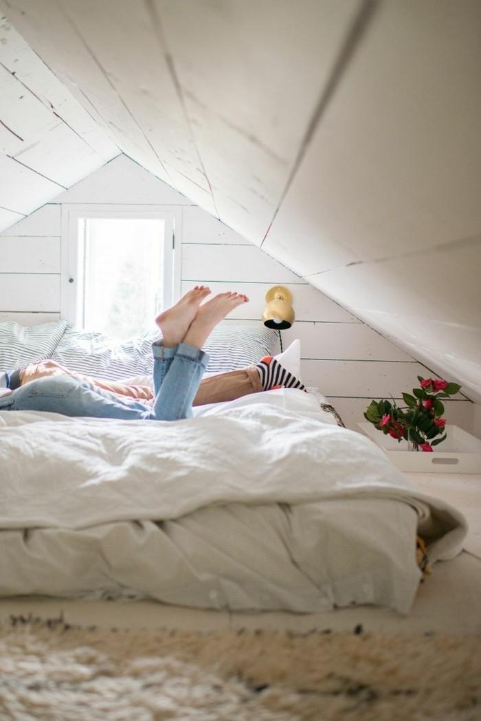 möbel für dachschräge kleines schlafzimmer
