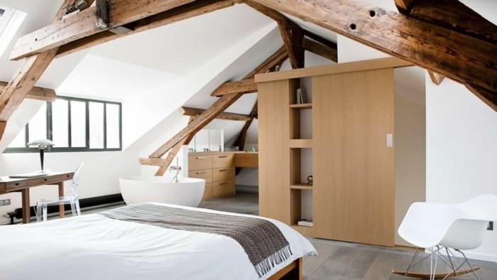 möbel für dachschräge modernes schlafzimmer einrichten
