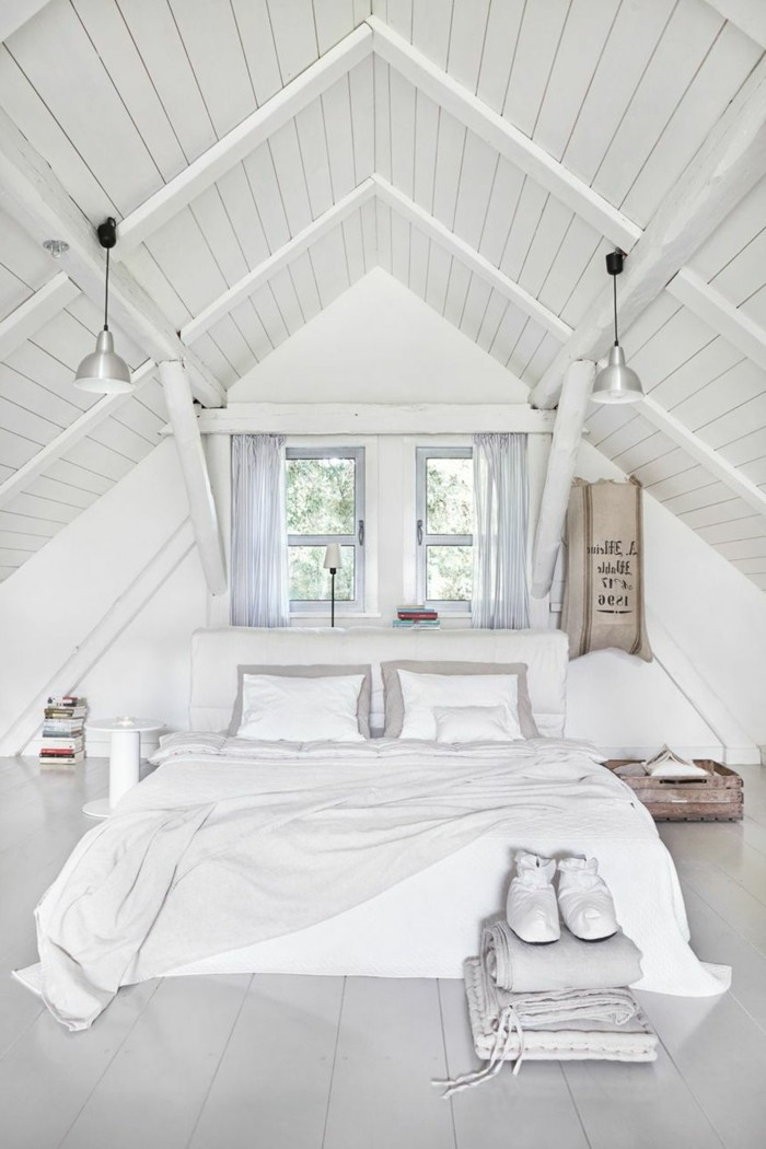 Möbel Für Dachschräge Schlafzimmer In Weiß