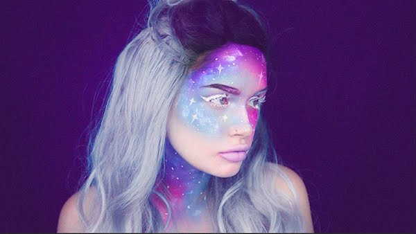 make up galaxy schminkideen schminktrends