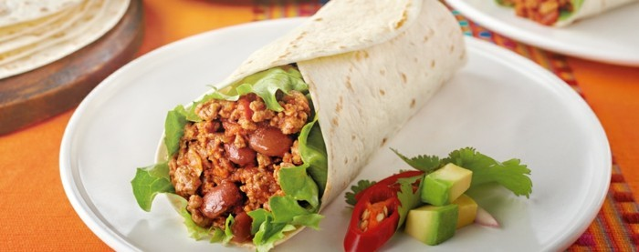 mexikanische burritos chili sin carne avocado