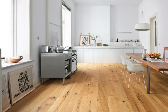moderne küche bodengestaltung modern