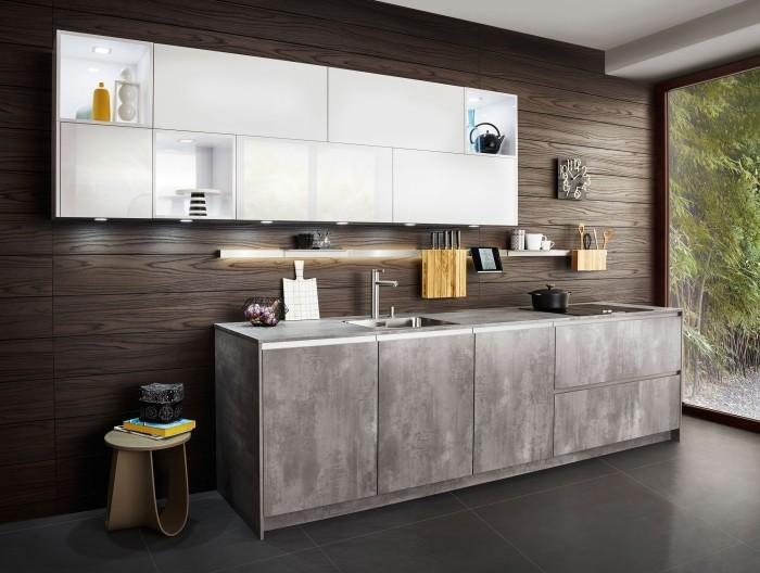 moderne küche mit weißer akzentzfläche gestalten