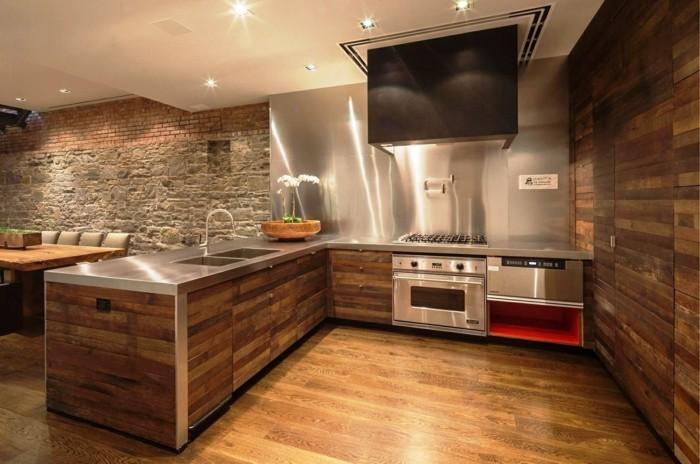 moderne wandgestaltung küche einrichten ideen