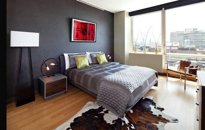 Fell Fesselt Den Blick! Modernes Schlafzimmer Fellteppich Fensterbank  Dekoideen