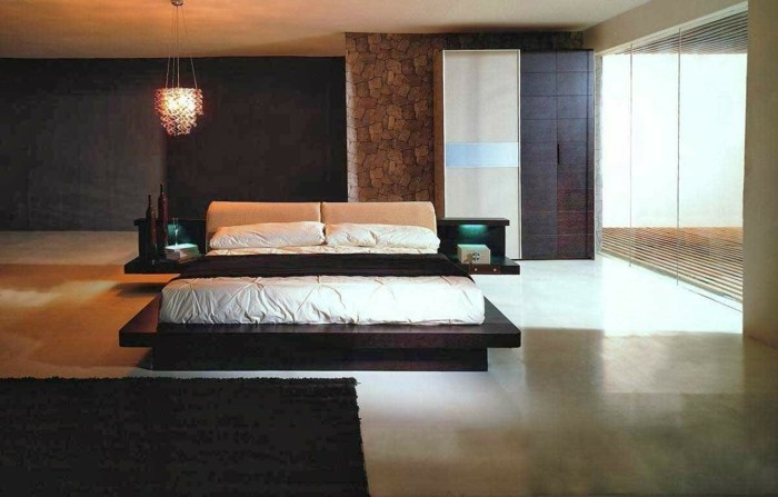 modernes schlafzimmer schlichte einrichtung und deko