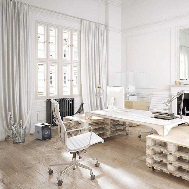 neutrale weiße palettengestaltung