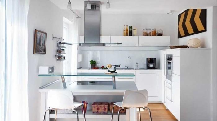 offene küche glastisch trennen