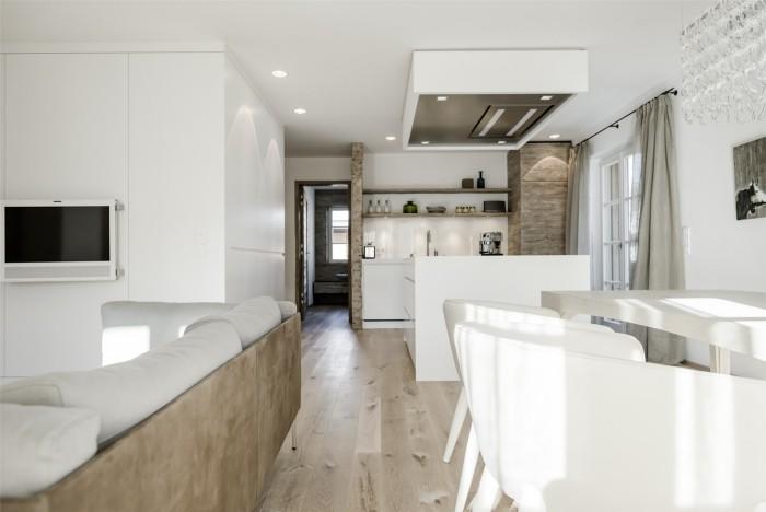 offene küche modern gestalten weiß