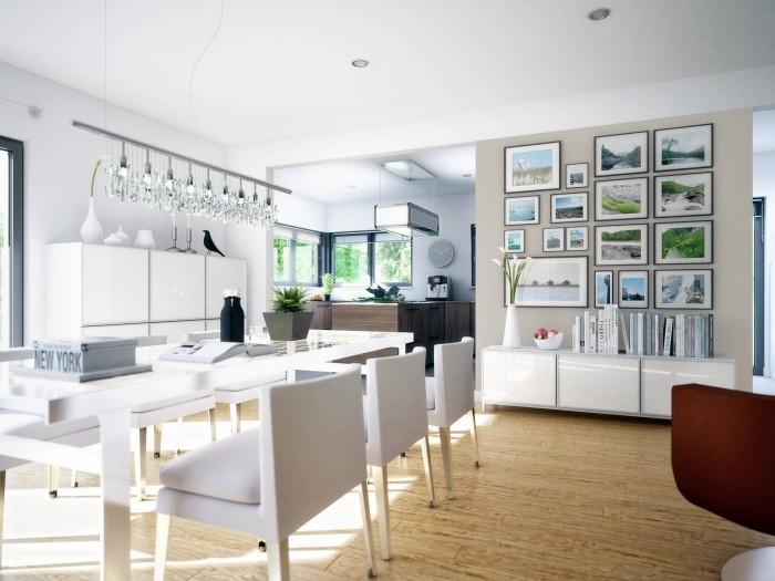 offene k che in wei tipps und ideen f r die super moderne gestaltung. Black Bedroom Furniture Sets. Home Design Ideas