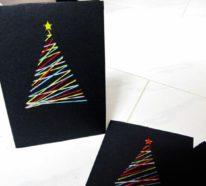 Originelle Weihnachtskarten.Weihnachtskarten Selber Basteln Und Freunde Und Verwandte Auf