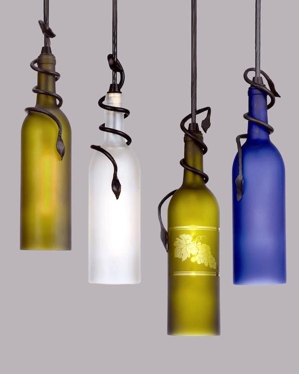 originelle diy flaschenlampen aus weinflaschen