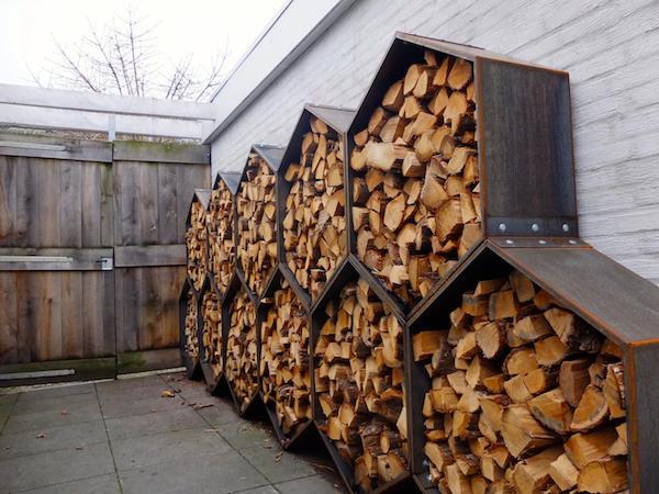 prima Ideen Brennholz lagern draußen