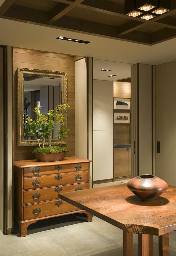 raumeinrichtung spiegel rustikales design