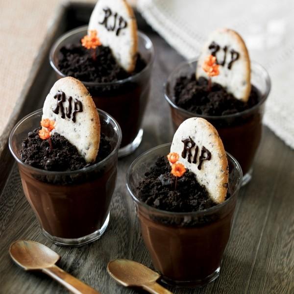 rip halloween dessert ideen dunkle schokolade kekse