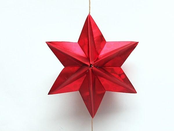 roter weihnachtsstern aus papier selber machen origami weihnachten