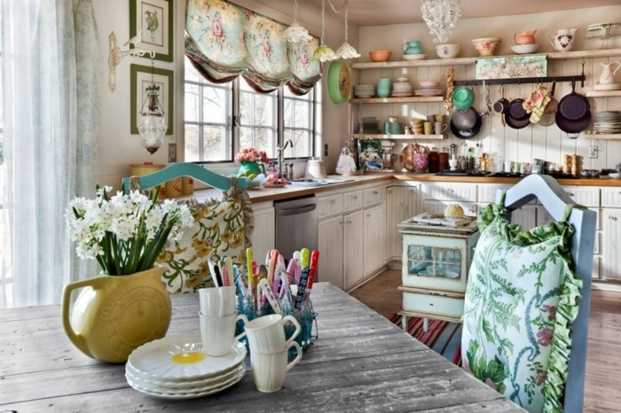 rustikale deko ideen küche gestalten