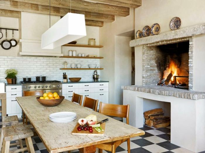 rustikale deko küche rustikal gestalten