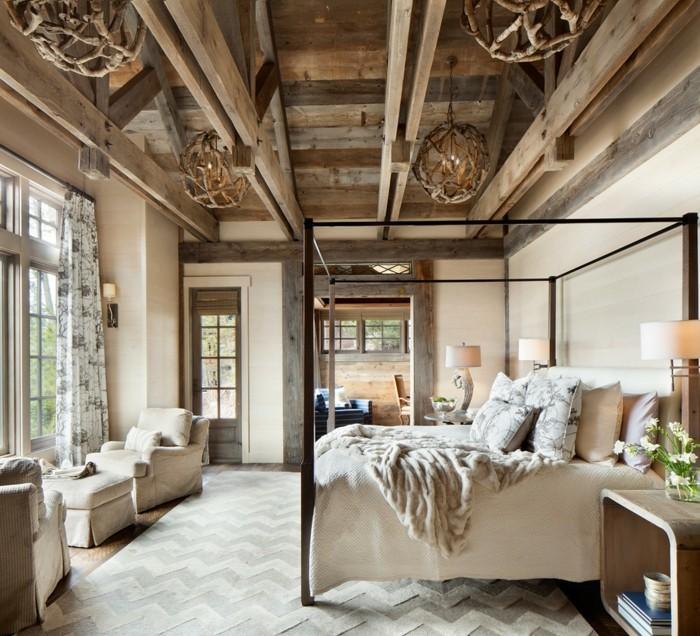 rustikale deko schlafzimmer ausgefallene leuchter