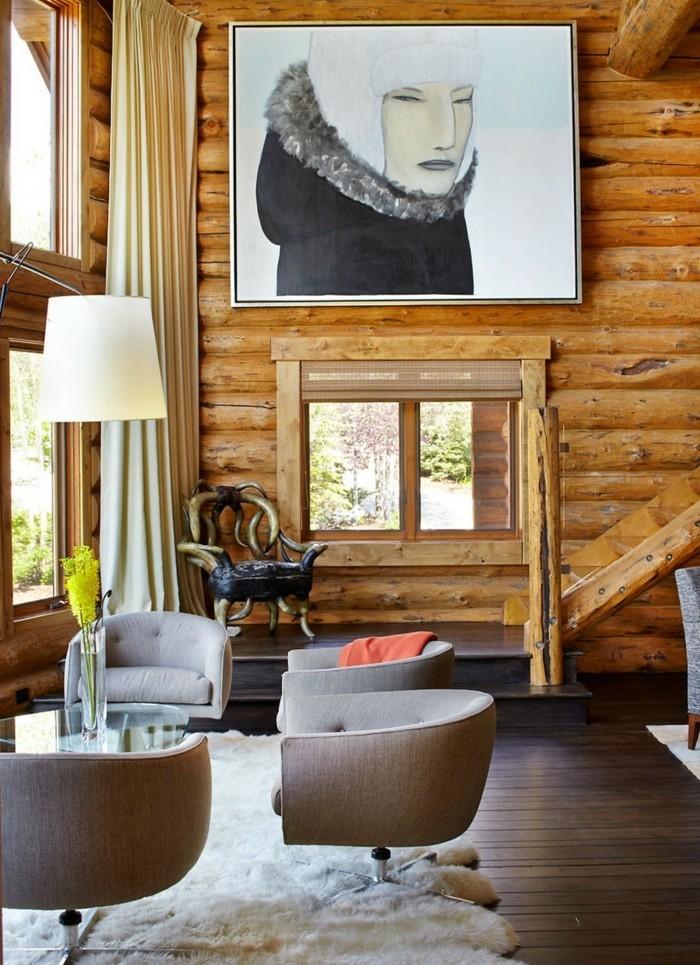 89 rustikale holzwand wohnzimmer wandverkleidungen for Ausgefallene wohnzimmer