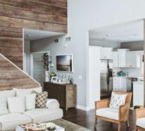Rustikale Holzwände zu Hause - 30 Beispiele für eyecatchende ...