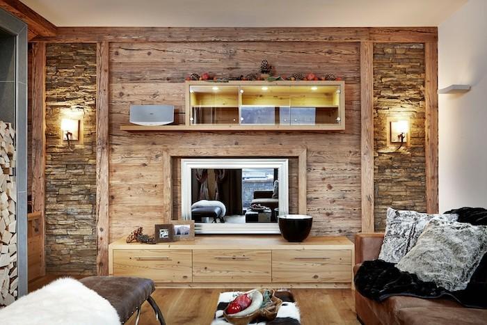 Rustikale holzw nde zu hause 30 beispiele f r eyecatchende wandgestaltung - Innengestaltung wohnzimmer ...