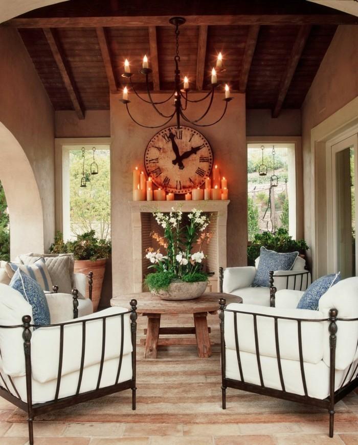 rustikale wohndekoration dekoideen für den außenbereich