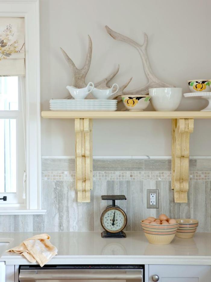 rustikale wohndekoration die küche dekorieren