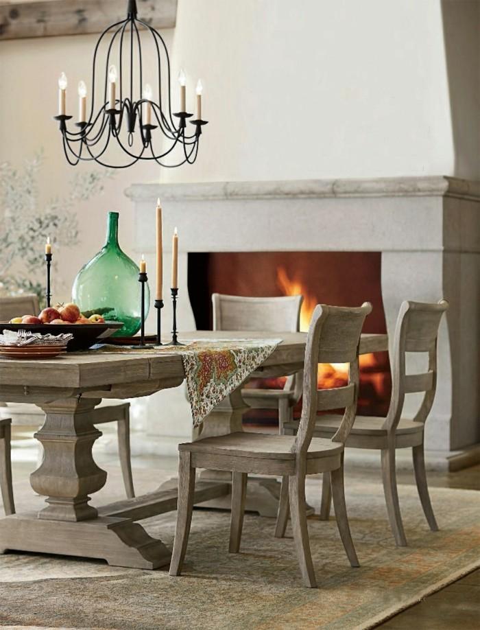 rustikale wohndekoration essbereich dekorieren