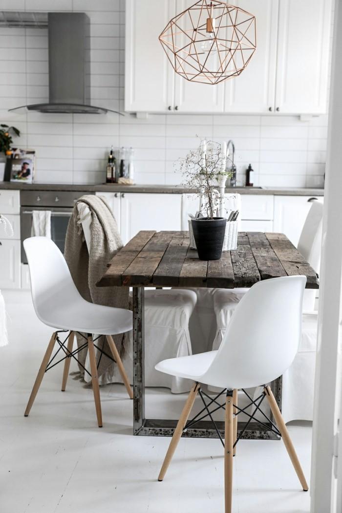 rustikale wohndekoration essbereich esstisch dekorieren